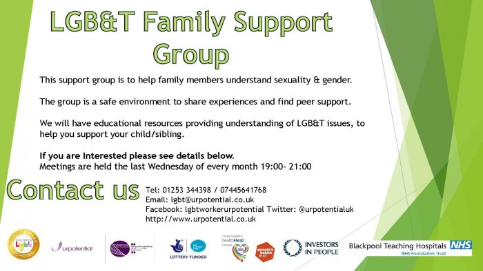 Blackpool LGBT Family Support Group @ UR Potential | Blackpool | England | United Kingdom