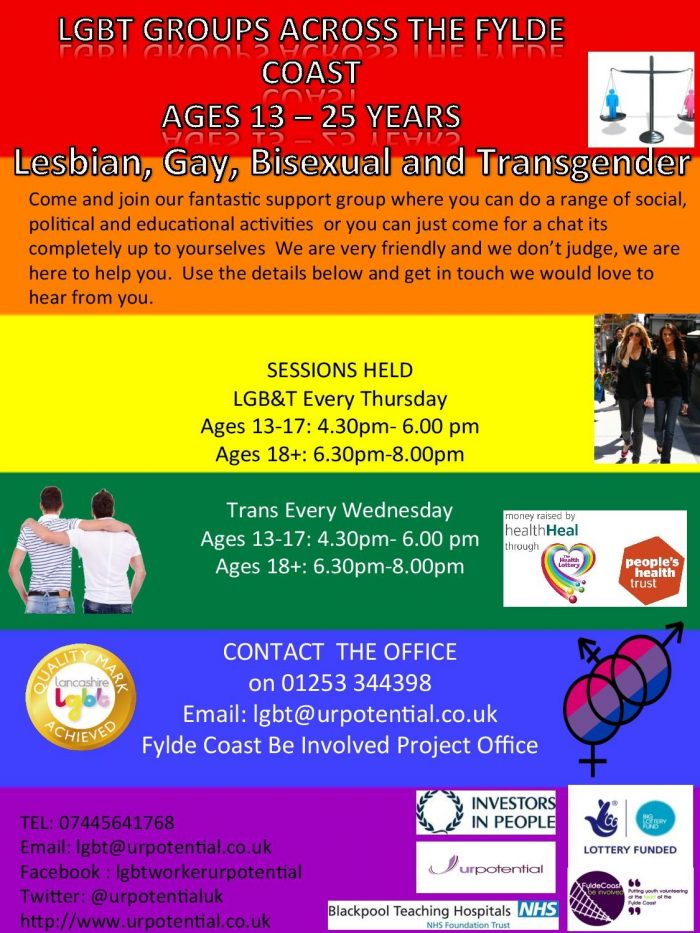Trans Young People's group (13-25) - Blackpool @ Fylde Coast Be Involved project office | Blackpool | England | United Kingdom