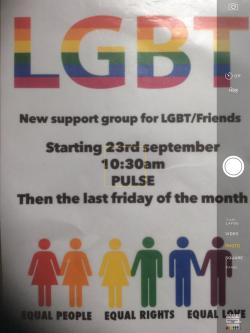 LGB&T Social Support Group @ Pulse Community Hub @ Pulse Community Hub   Skelmersdale   England   United Kingdom