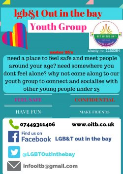 Lancaster OitB Youth Group @ LGB&T Out in the Bay | Lancaster | England | United Kingdom