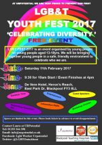 LGBT Youth Fest 2017 – 11th February, Blackpool