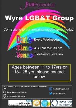 Wyre LGBT Young People's group @ Fleetwood - details on request