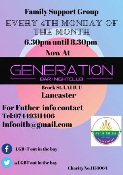 Families of LGBTs group Lancaster @ Generation Bar & Nightclub | England | United Kingdom