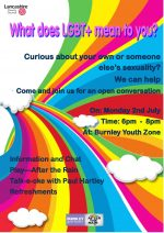 LGBT Youth Awareness events in Burnley and Nelson