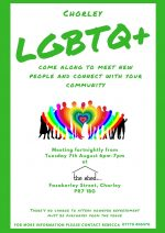 Chorley LGBTQ+ social group this week