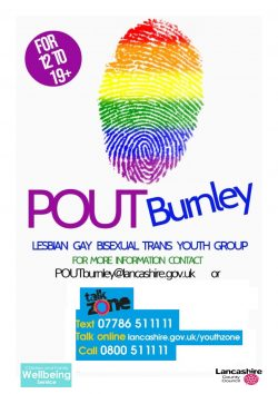 POUT Burnley LGBT youth group @ On request