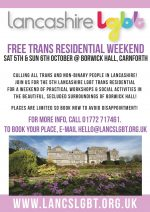 Trans Residential Weekend Oct 5th-6th 2019