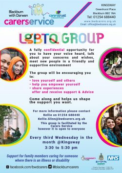 Blackburn LGBTQ Group @ Blackburn with Darwen Carers' Service