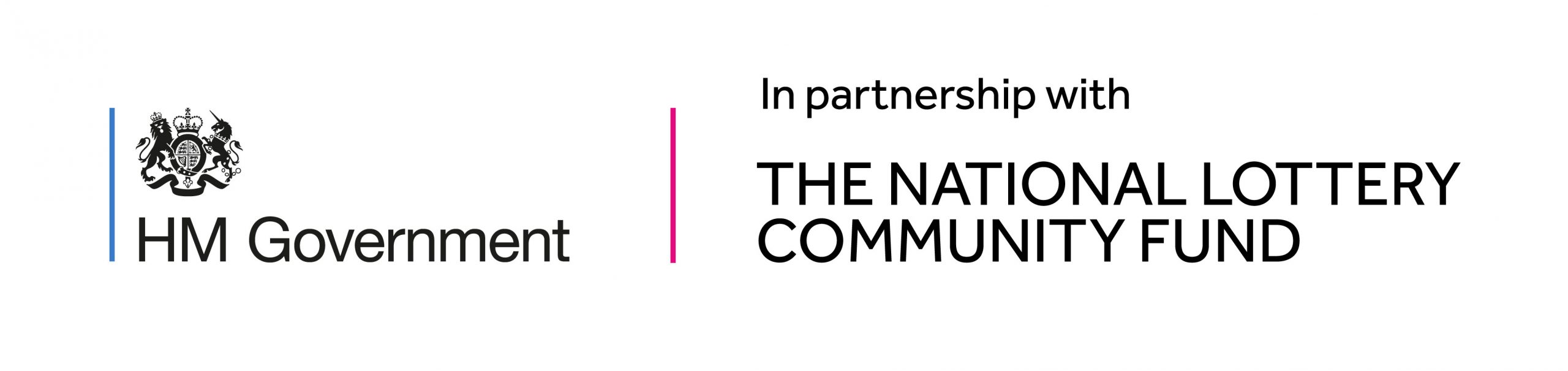 Logo of HM Government in partnership with The NAtional Lottery Community Fund