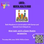 LGBTQ+ Mental Health Hour #2 – with Hidayah LGBT+