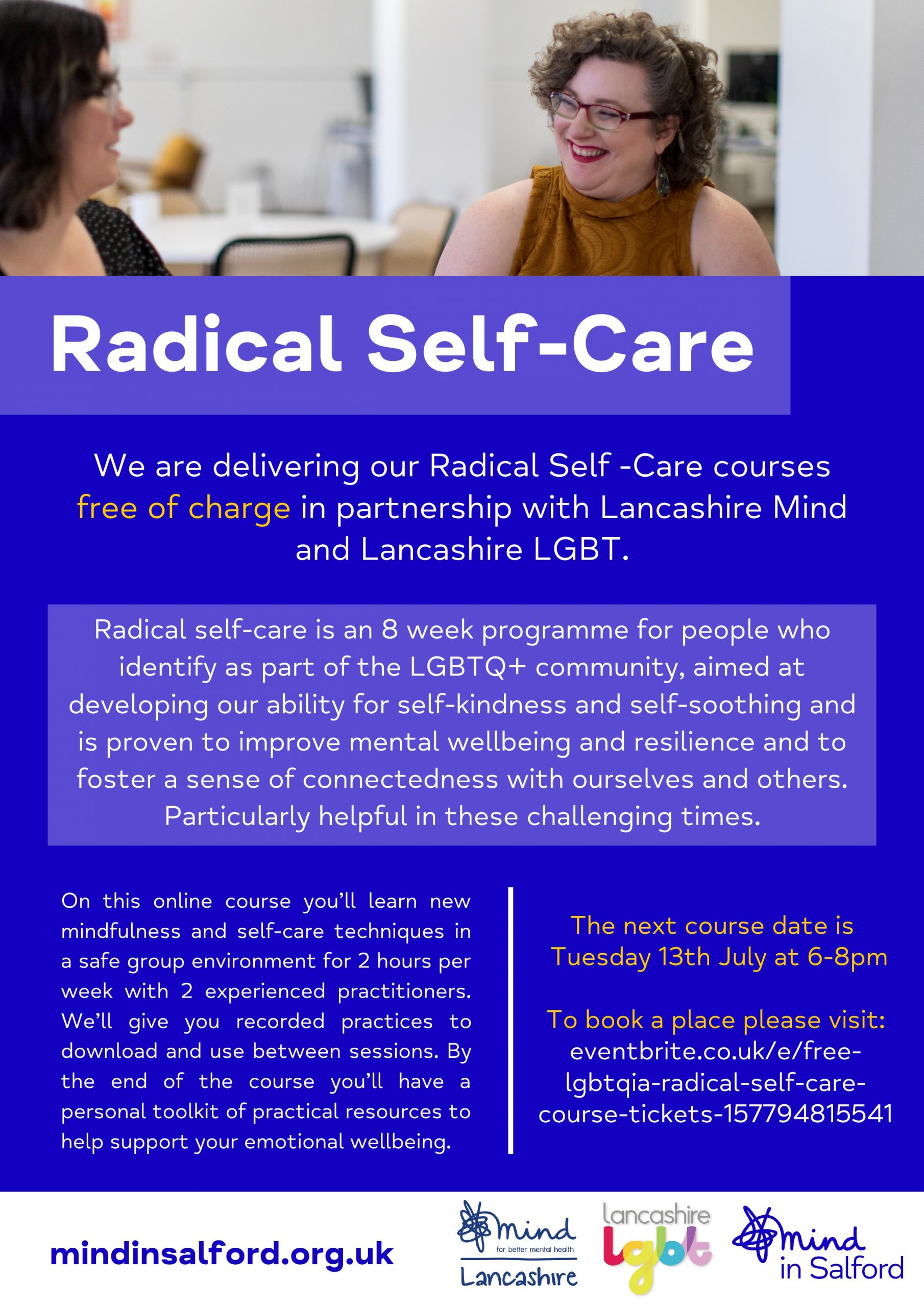 Flyer explaining more about the Radical Self-Care course