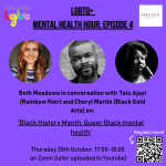LGBTQ+ Mental Health Hour #4 – Black History Month: Queer Black Mental Health