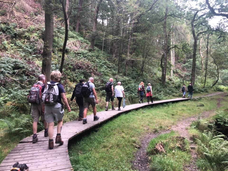 The walking group at Scorton