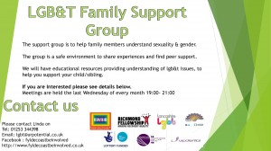Blackpool LGBT Family Support Group @ Fylde Coast Be Involved Project Office   Blackpool   United Kingdom