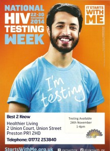 HIV testing in Preston @ Renaissance at Drugline Lancashire   Preston   United Kingdom